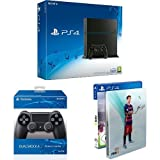 PlayStation 4 - Konsole (500GB, schwarz) [CUH-1216A] + 2 DualShock 4 Controller + FIFA 16 - Steelbook Edition (exkl. bei Amazon.de)