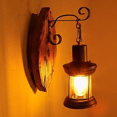 LQB Wandleuchte Einzelkopf Industrie Vintage Retro Holz Metall Malerei Farbe Wandleuchte für Das Haus/Hotel / Korridor dekorieren Wandleuchte