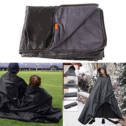FORNORM Picknickdecke, faltbar, 140 x 200 cm, Fleece, wasserdicht, Winddicht, Picknick-Decke für den Außenbereich, mit Tragetasche für Camping, Outdoor, Strand, Picknick -