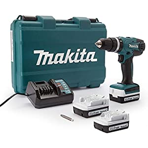 Makita HP347DWE3 MAKITA Akku-Schlagbohrschrauber 14,4V 1,3 Ah + 3 Akkus und Ladegerät
