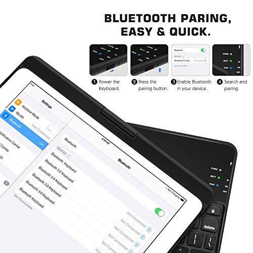 Zoom IMG-3 moko tastiera bluetooth cover girevole