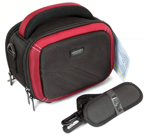 aktions-set-camescope-elegant-unomat-digi-slight-50-noir-rouge