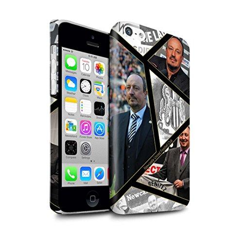 Officiel Newcastle United FC Coque / Clipser Brillant Etui pour Apple iPhone 5C / Pack 8pcs Design / NUFC Rafa Benítez Collection Montage