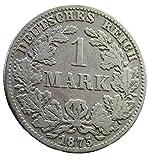 orig. Silbermünze 1 Mark 1875 B ss+/vz Deutsches Reich - Kaiserreich - Kursmünze / Münze