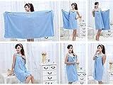 #10: Labdhi Creation fresh Women's Microfiber Wearable Bath Wrap Beach Towel Dress Bathrobe Robe,155 x 80 cm/ 62 x 32 x 2.36 inch