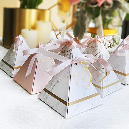 bjtgy 50pcs Pyramid Style Pralinenschachtel Pralinenschachtel Hochzeit
