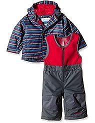 Columbia Buga - Conjuntos termales para bebés, color rojo (bright red stripe), talla XS