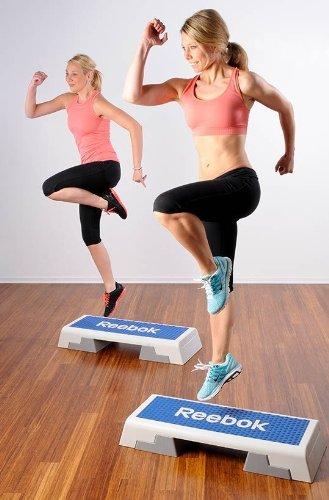 Reebok Step blau weiss Stepper 7.5 kg Steppbrett Step Aerobic Training Fitness - 3
