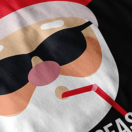 Weihnachtsmann Hut Komisch Weihnachten Weihnachten Damen S-2XL Muskelshirt | Wellcoda Schwarz