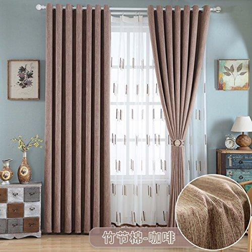 Tende sipario ecologico cotone salotto dalla finestra della camera da letto di filati semplici moderno tessuto ispessimento shading,d,250 x 270 cm (w x h) x 2,