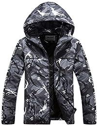 Ghope Homme Jeunes Garçon Veste Capuche Hiver Militaire Parka manteau d hiver  Chaud à capuche 09ec47de5ebe