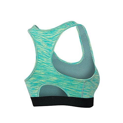 Balai Femmes De Yoga Sports - Gym Soutien-gorge Vest Underwear sans couture,Multicolore Taille S M L XL XXL Vert