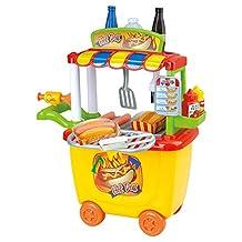 Playgo 3512 30 Pieces Gourmet Hot Dog Cart