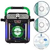 Singing Machine SML682BTBK Bluetooth CDG Plus Tablet Karaoke Machine - Black