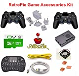 Raspberry Pi 3 RetroPie Game Accessories Kit,Pre-installed emulators: Nintendo NES, NEOGEO, MAME, GAMEBOY, SEGA,SUPER NINTENDO and so on.