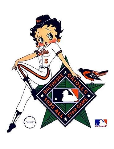 Max Fleischer – Betty Boop: Baltimore Orioles 1993 All-Star Game Poster Drucken (21,59 x 27,94 cm)