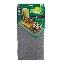 JML Magic Carpet: Super-Absorbent Non-Slip Boot & Shoe Mat, Quick-Drying (Grey)