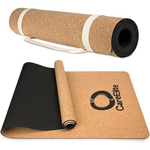 Yogamatte aus Kork   Yogamatte mit Tragegurt aus Baumwolle ...