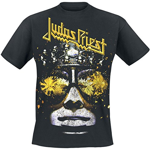 Judas Priest Hell Bent Yellow Camiseta Negro L