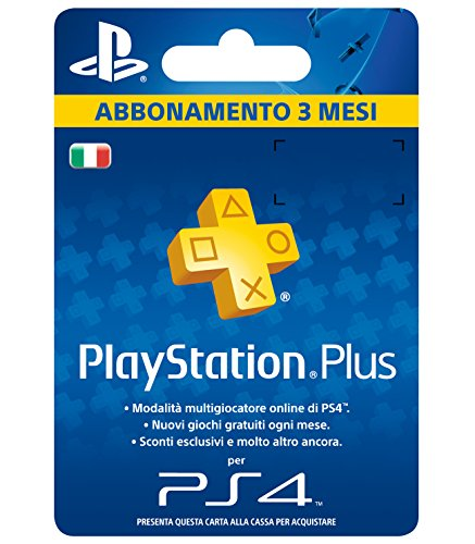Foto PlayStation Plus Card Hang Abbonamento 3 Mesi