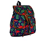 Damen Cityrucksack klein Mini Rucksack kleiner Stadtrucksack Backpack Citybackpack mit Flamingo Muster Damen Schultertasche Kinder Rücksack Schul Ranzen Umhangtasche Handtasche