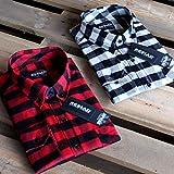 Reslad Hemd kariert Herren Vintage Holzfällerhemd Karo-Hemd Flanellhemd Männer Langarm Checked Flanell Shirt RS-7113 Rot-Schwarz L Test