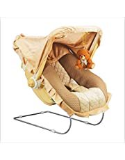 Tender Care Musical 12-in-1 Carry Cot Bouncer with Storage Box and Mosquito Net for Newborn Baby (Beige)