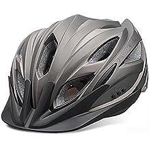MIAO Bike Helmet - Outdoor Safe Mountain Bike Ciclismo Music Helmet con auriculares Bluetooth , titanium