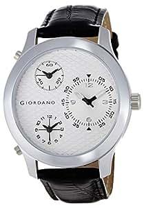 Giordano Analog White Dial Men's Watch - 60067 WHITE