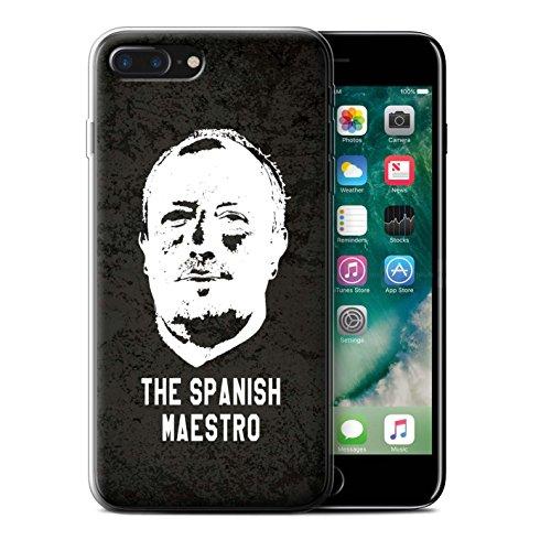 Officiel Newcastle United FC Coque / Etui Gel TPU pour Apple iPhone 7 Plus / Maestro Espagnol Design / NUFC Rafa Benítez Collection Maestro Espagnol