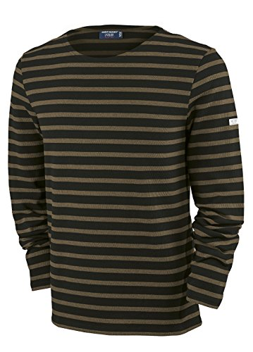 Saint James Langarm Shirt Meridien Modern NOIR TAUPE