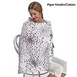 #10: Motherly Nursing Breastfeeding Cover Scarf Cloth- Breast Feeding shawl (Piper Cotton)