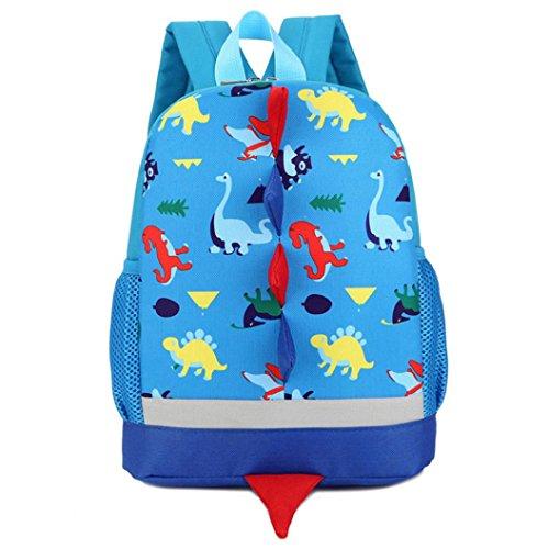 Dinosaurio Patrón Animales Mochila Escolar Para Niños Niñas By VENMO (azul)