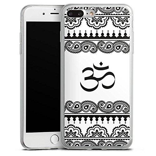 Apple iPhone 8 Slim Case Silikon Hülle Schutzhülle Mandala Henna Yoga Silikon Slim Case transparent