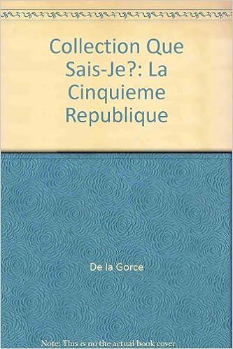 En ligne téléchargement LA 5EME REPUBLIQUE. 7ème édition epub pdf