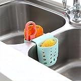 #4: Skyfish Kitchen Drain Hanging 2 Pockets Cleaing Tools Sponge Hanging Storage Basket (Multi Color)