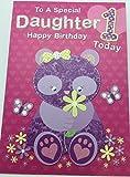 Süße Geburtstagskarte für Tochter, zum 1. Geburtstag, für Mädchen, Pink