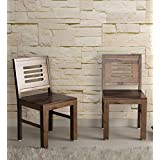 UrbanWood Sheesham Wood Dining Chairs Wooden | for Home Dining Room | Teak Finish | Set of 2
