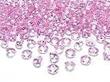 Schnooridoo 100 Diamanten Hellrosa 12mm Tischdekoration Streuartikel Hochzeit Taufe Konfirmation Event Deko