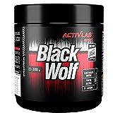 BLACK WOLF | 300g / 30 Portionen | Hardcore Serie | Nitro / Pre-Workout Booster, gut abgestimmte Zusammensetzung + Trainingsbooster & Fettverbrennung - Mega Pump & Focus, Muskelaufbau