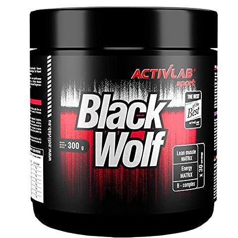 BLACK WOLF (300g / 30 Portionen) Hardcore Serie - Nitro / Pre-Workout Booster, gut abgestimmte Zusammensetzung + vielfältige Wirkung - Pump, Muskelaufbau