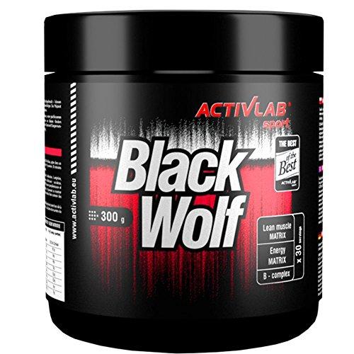 BLACK WOLF | 300g / 30 Portionen | Hardcore Serie | Nitro / Pre-Workout Booster, gut abgestimmte Zusammensetzung + Trainingsbooster & Fettverbrennung – Mega Pump & Focus, Muskelaufbau