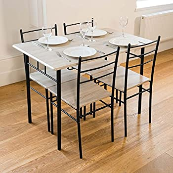 9fd87cbde0217 Cecilia 5 Piece Dinner Table and Chairs Set Modern Dining  Amazon.co ...