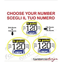 Kit adesivi decal stikers TABELLE DAKAR 1981 ability to customize the colors