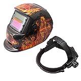 BQLZR casco de soldadura con oscurecimiento automático solar, máscara de protección facial para la cabeza, patrón de bailarina, accesorio de soldadura