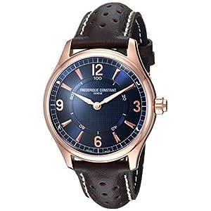 Frederique Constant Hombres del 'HSW' Swiss Quartz reloj Casual de cuero y acero inoxidable, color: marrón (modelo: fc-282an5b4)