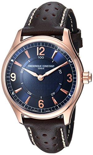 Frederique Constant Homme 42mm Bracelet Cuir Marron Quartz Montre FC-282AN5B4