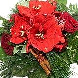 Blumenstrauß Weihnachten - Adventsstrauß mit Rosen und Amaryllis