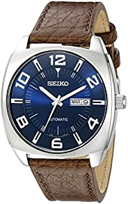 Seiko Men's Blue Dial Brown Leather Strap Automatic W