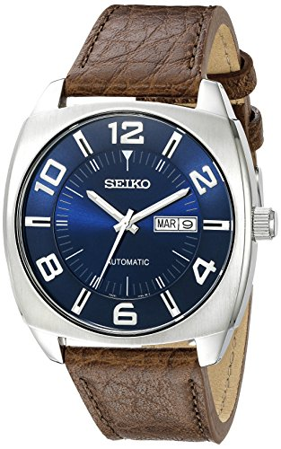seiko-mens-snkn37-stainless-steel-automatic-self-wind-watch-with-brown-leather-band